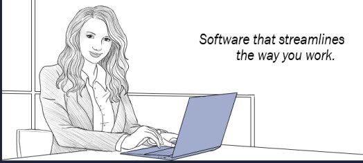 Software woman computer